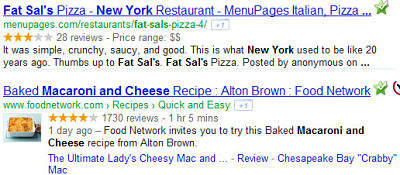 Google results microdata examples