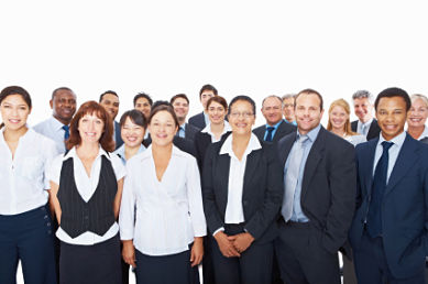 Group of successful accountants CPA