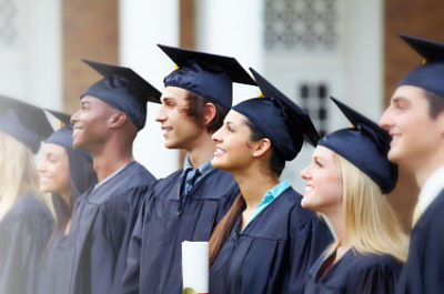 multi ethnic graduation students