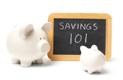 Piggy bank teaching savings