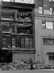 Building in chelsea damaged by Sandy