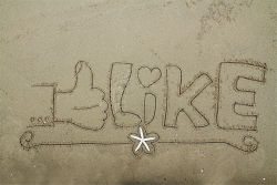The word like on the beach
